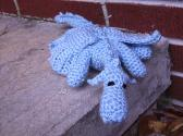 Gary the Snow Dragon Crochet Amigurumi Plush Toy