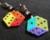 Beaded Dice Earrings