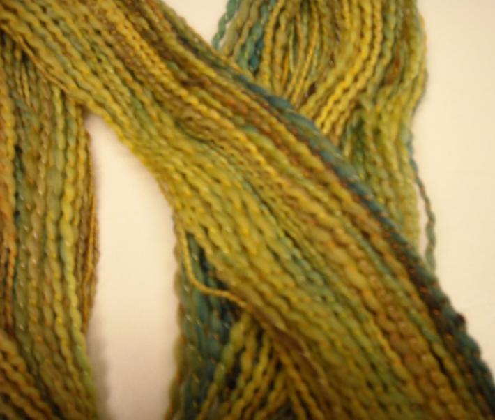 Early Spring Handspun Hand dyed Merino wool yarn 84yds
