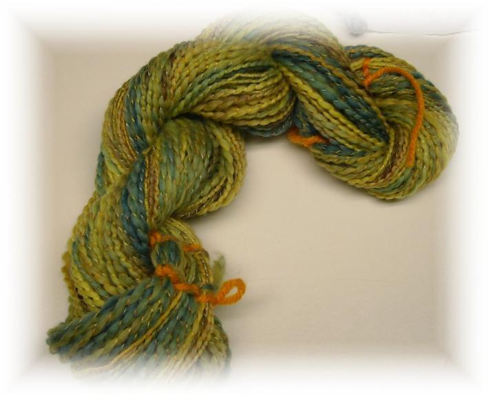 98yds of Hand spun Hand dyed Merino wool Yarn