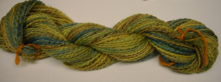 98yds of Hand spun Hand dyed Merino wool Yarn