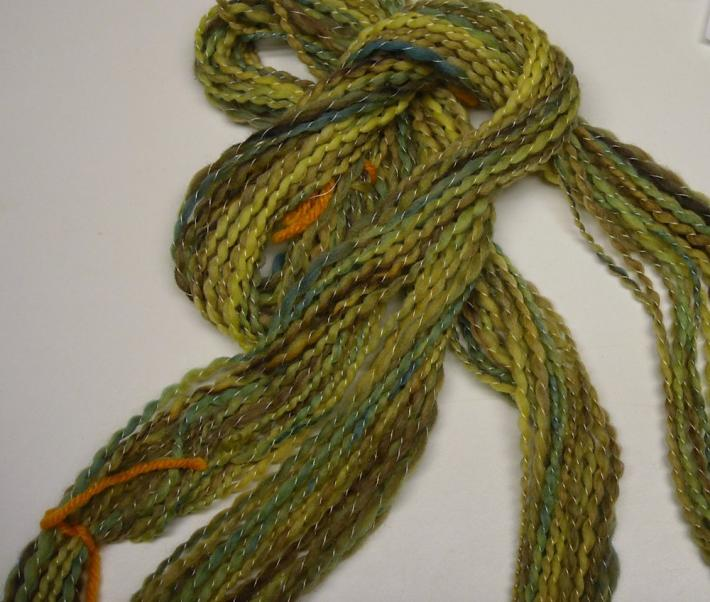 Early Spring Handspun Hand dyed Merino wool yarn 38yds