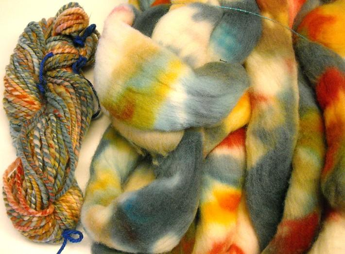 Hand Dyed New Zealand Wool Roving over 9oz
