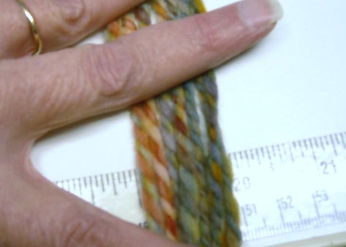 Rainbow dyed New Zealand Wool Yarn 48yds