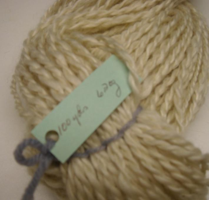 Reserved for Heather 2ply white mohair