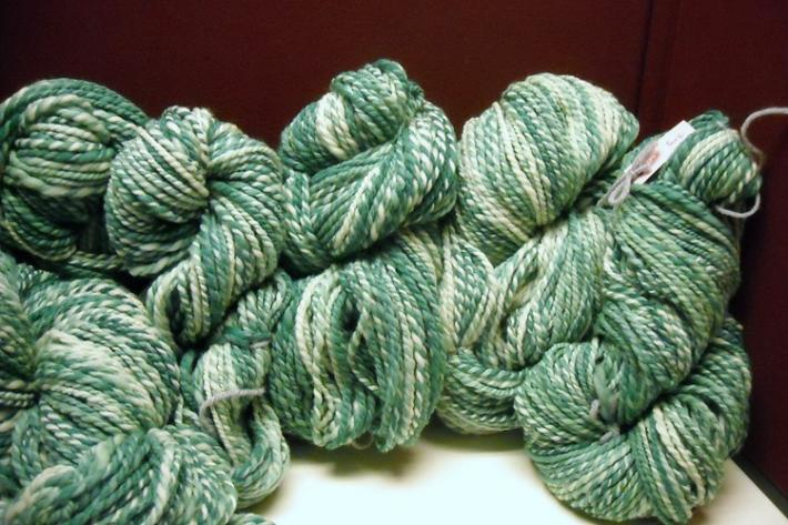 Hand Spun Wool Yarn Enough for a Sweater