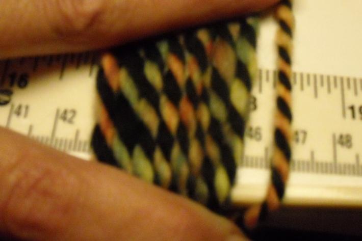 Lighter Rainbow Dyed and Black Merino Wool Hand Spun Yarn