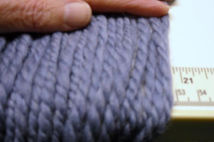 Light Denim Blue Superwash Merino Handspun 2ply Wool Yarn 90yds