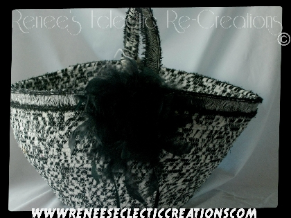 Black White Hand Made Basket