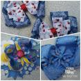 Blue Jean Bow Bundle