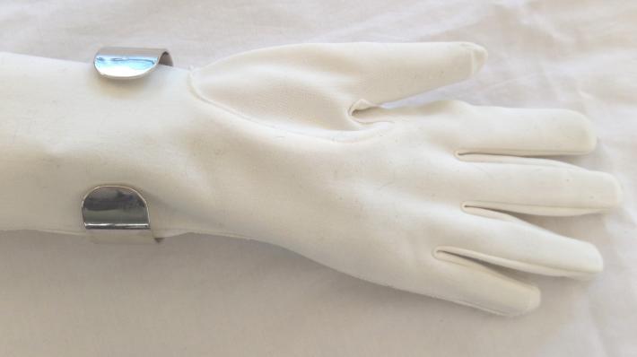 Blue Arch Cuff Bracelet