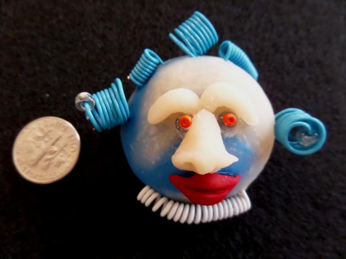 Blue Moon Wire Man 2 Brooch