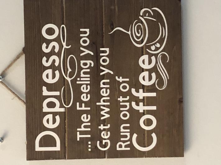 Depresso coffee sign