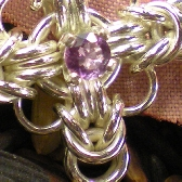Sterling Celtic Cross with Amethyst Center