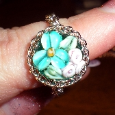 Garden of Bliss Chainmaille Ring - Turquoise on Turquoise