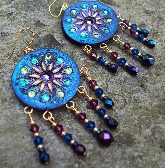 Black Magic Crystal Statement Gypsy Boho Earrings