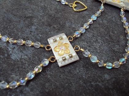 Bohemian Romance Fairy Tale Wedding Bridal Drape Necklace