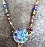 MAGIC AT DUSK Abstract Art Nouveau Crystal Necklace
