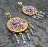 SOLEIL Crystal Statement Gypsy Boho Earrings