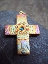 Rainbow Celtic Iona Cross Pendant