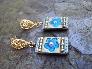 SOMETHING BLUE Fairy Tale Bridal Wedding Earrings