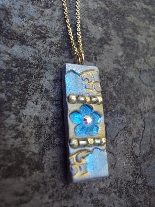 SOMETHING BLUE Fairy Tale Bridal 14K Wedding Necklace