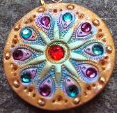 Lavanya Gold Multicolored Medallion Pendant