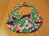 Christmas Baby Bib Reversible