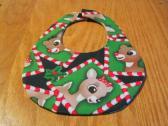 Christmas Baby Bib Reversible