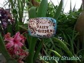 OOAK Handmade Fairy Garden Fantasy Miniature Garden Marker Stake