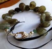 Labradorite and Moss Agate Bracelet