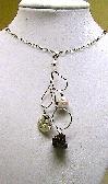 Silver Twig Leaf Charm Necklace