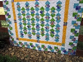 Stunning Colors Handmade Quilt