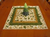 Poinsettia Quilted Table Topper