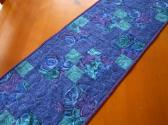 Patchwork Table Runner Blue