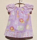 Baby Jungle Animals Peasant Dress Size 3 Months