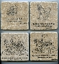 Winnie the Pooh Quote Wall Art Tumbled Tile Coaster Natural Stone Friends Forever