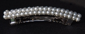 Beautiful White Pearl Beads Adorn this French Barrette Weddings Proms Special Events