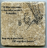 Winnie the Pooh Quote Wall Art Tumbled Tile Coaster Natural Stone Piglet If There Ever Comes a Day