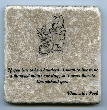 Winnie the Pooh Quote Wall Art Tumbled Tile Coaster Natural Stone Piglet If You Live to be a Hundred
