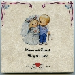 Customized Wedding Ceramic Tile 6 in x 6 in Your Names and Wedding Date Personalized