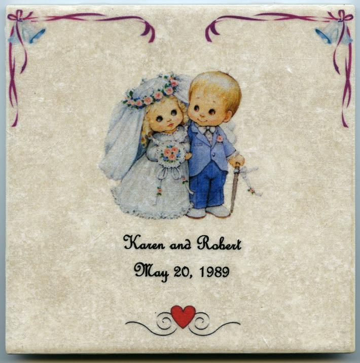 Customized Baby Announcement on 6 x 6 in Ceramic Tile Personalized Its a Boy