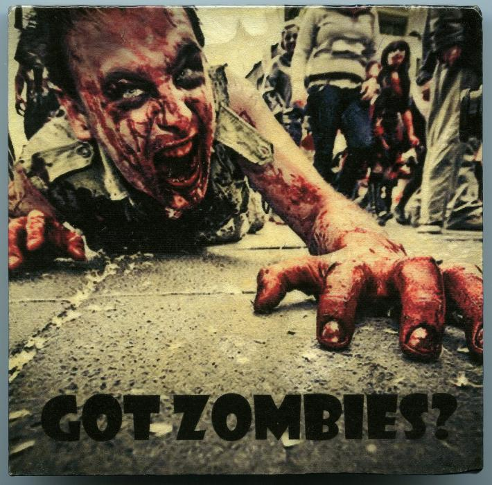 Zombie Apocalypse Walking Dead Got Zombies Coaster Paperweight Table Accent Home Decor