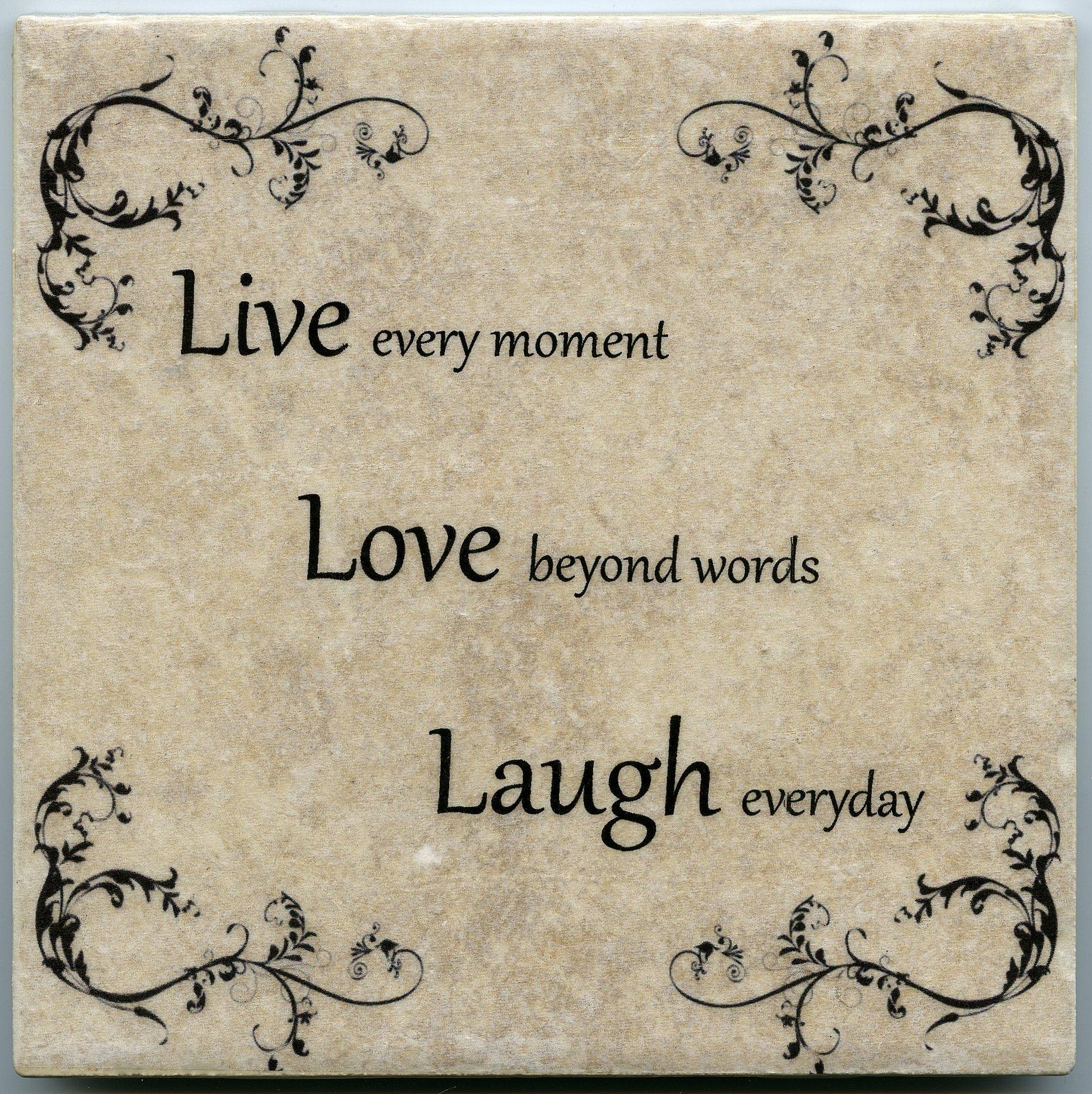 live love laugh 6in x 6in ceramic tile wall decor art