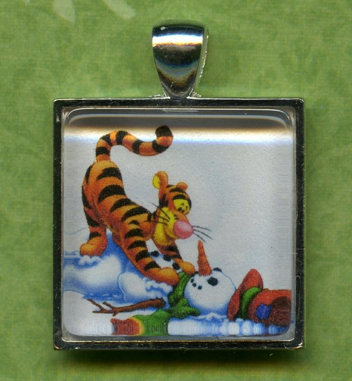 Tigger and Snowman Christmas Ornament Pendant Key Chain Magnet Zipper Pull Lamp Cord