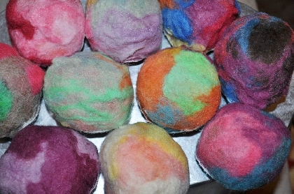 Lemon Felted Soap Ball