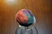 Red Velvet Cake Felted Soap Ball