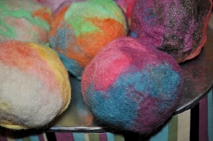 Lavender Vanilla Felted Soap Ball