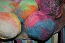 Ginger Peach Felted Soap ball