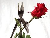 Metal Flower Holder Made from Forks